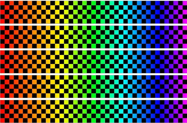 Checker Stripes waterproof Vinyl Sticker vehicle decal MULTI COLOUR/BLACK